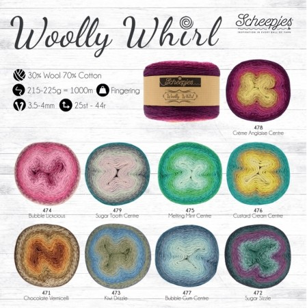 Woolly Whirl & Whirlette